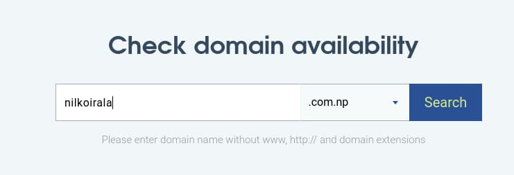 searching for .com.np Domain Availability